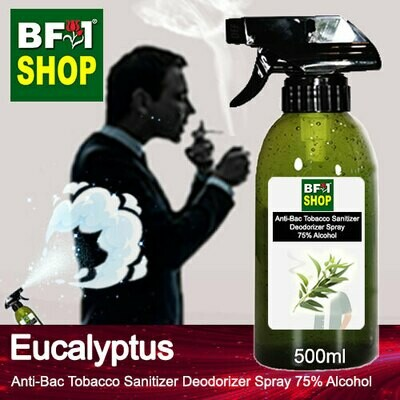 (ABTSD1) Eucalyptus Anti-Bac Tobacco Sanitizer Deodorizer Spray - 75% Alcohol - 500ml