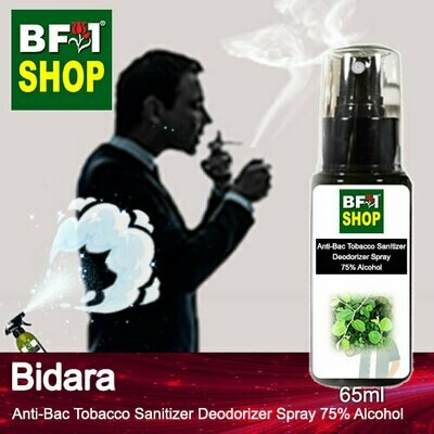 (ABTSD1) Bidara Anti-Bac Tobacco Sanitizer Deodorizer Spray - 75% Alcohol - 65ml