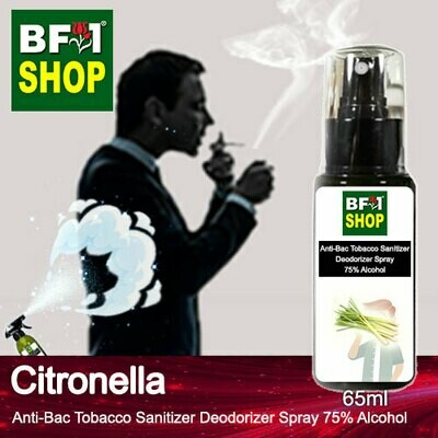 (ABTSD1) Citronella Anti-Bac Tobacco Sanitizer Deodorizer Spray - 75% Alcohol - 65ml