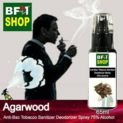 (ABTSD1) Agarwood Anti-Bac Tobacco Sanitizer Deodorizer Spray - 75% Alcohol - 65ml