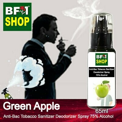 (ABTSD1) Apple - Green Apple Anti-Bac Tobacco Sanitizer Deodorizer Spray - 75% Alcohol - 65ml