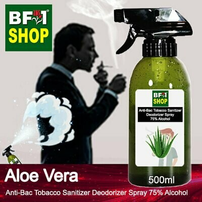 (ABTSD1) Aloe Vera Anti-Bac Tobacco Sanitizer Deodorizer Spray - 75% Alcohol - 500ml