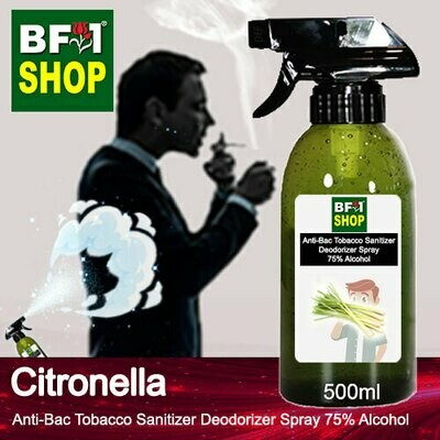 (ABTSD1) Citronella Anti-Bac Tobacco Sanitizer Deodorizer Spray - 75% Alcohol - 500ml