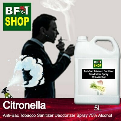 (ABTSD1) Citronella Anti-Bac Tobacco Sanitizer Deodorizer Spray - 75% Alcohol - 5L