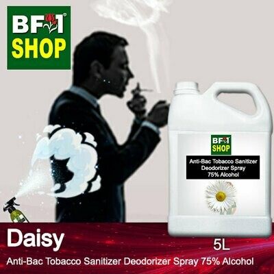 (ABTSD1) Daisy Anti-Bac Tobacco Sanitizer Deodorizer Spray - 75% Alcohol - 5L