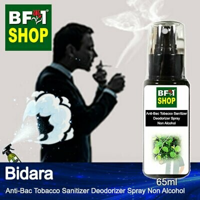 (ABTSD1) Bidara Anti-Bac Tobacco Sanitizer Deodorizer Spray - Non Alcohol - 65ml