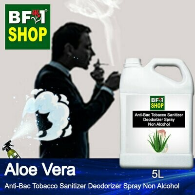 (ABTSD1) Aloe Vera Anti-Bac Tobacco Sanitizer Deodorizer Spray - Non Alcohol - 5L
