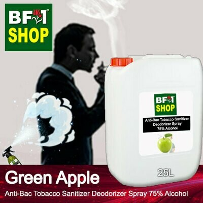 (ABTSD1) Apple - Green Apple Anti-Bac Tobacco Sanitizer Deodorizer Spray - 75% Alcohol - 25L