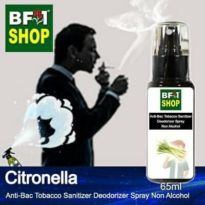 (ABTSD1) Citronella Anti-Bac Tobacco Sanitizer Deodorizer Spray - Non Alcohol - 65ml