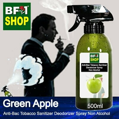 (ABTSD1) Apple - Green Apple Anti-Bac Tobacco Sanitizer Deodorizer Spray - Non Alcohol - 500ml