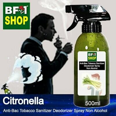 (ABTSD1) Citronella Anti-Bac Tobacco Sanitizer Deodorizer Spray - Non Alcohol - 500ml