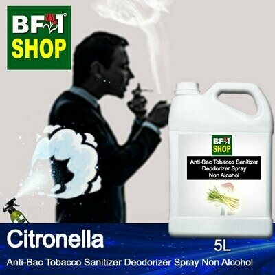 (ABTSD1) Citronella Anti-Bac Tobacco Sanitizer Deodorizer Spray - Non Alcohol - 5L