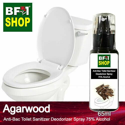 (ABTSD) Agarwood Anti-Bac Toilet Sanitizer Deodorizer Spray - 75% Alcohol - 65ml