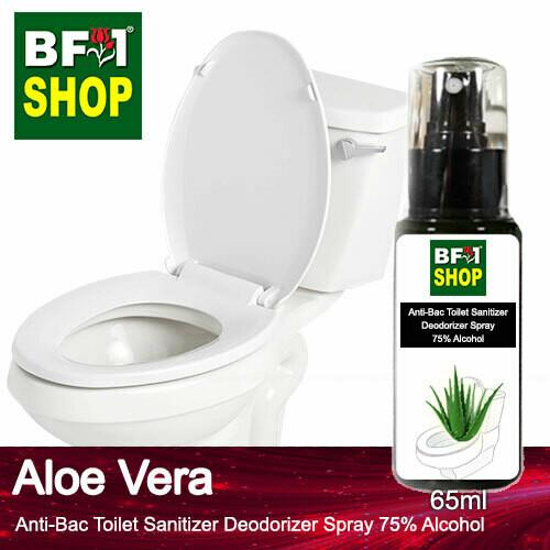 (ABTSD) Aloe Vera Anti-Bac Toilet Sanitizer Deodorizer Spray - 75% Alcohol - 65ml
