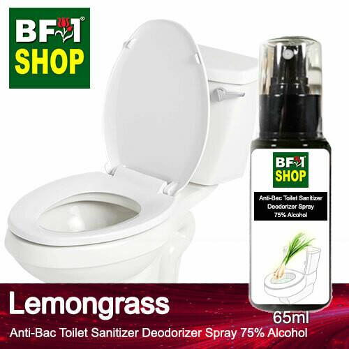 (ABTSD) Lemongrass Anti-Bac Toilet Sanitizer Deodorizer Spray - 75% Alcohol - 65ml