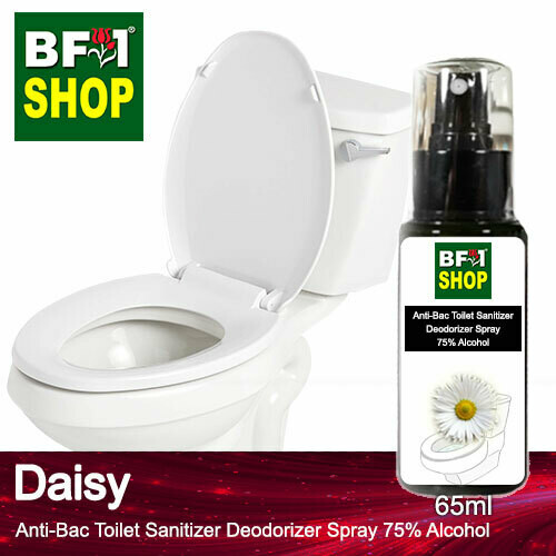 (ABTSD) Daisy Anti-Bac Toilet Sanitizer Deodorizer Spray - 75% Alcohol - 65ml