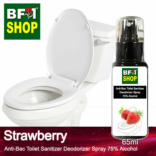 (ABTSD) Strawberry Anti-Bac Toilet Sanitizer Deodorizer Spray - 75% Alcohol - 65ml