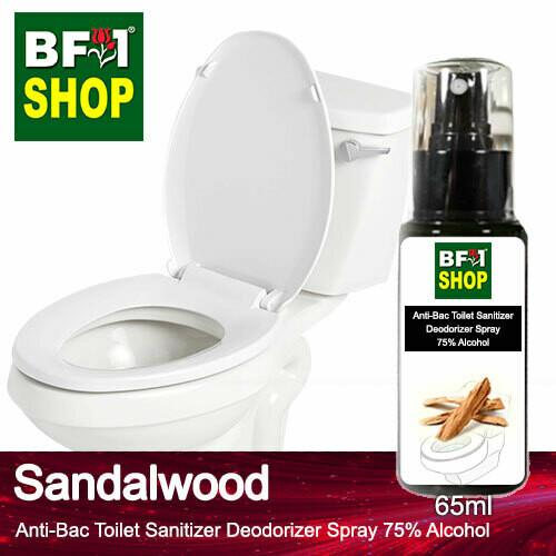 (ABTSD) Sandalwood Anti-Bac Toilet Sanitizer Deodorizer Spray - 75% Alcohol - 65ml