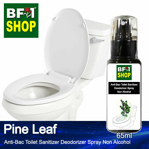(ABTSD) Pine Leaf Anti-Bac Toilet Sanitizer Deodorizer Spray - Non Alcohol - 65ml