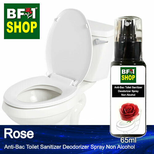 (ABTSD) Rose Anti-Bac Toilet Sanitizer Deodorizer Spray - Non Alcohol - 65ml