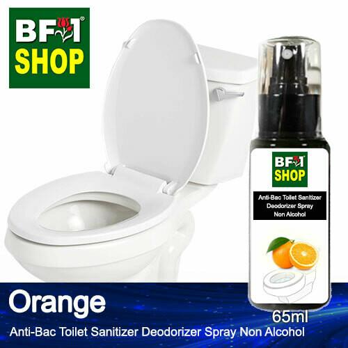 (ABTSD) Orange Anti-Bac Toilet Sanitizer Deodorizer Spray - Non Alcohol - 65ml