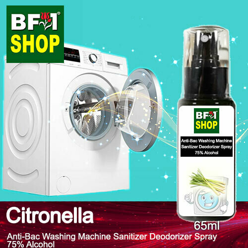 (ABWMSD) Citronella Anti-Bac Washing Machine Sanitizer Deodorizer Spray - 75% Alcohol - 65ml