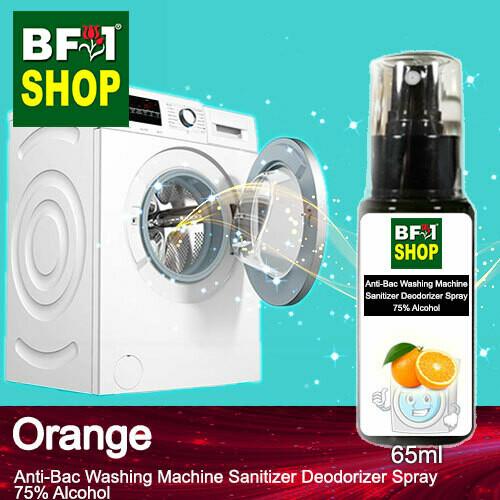 (ABWMSD) Orange Anti-Bac Washing Machine Sanitizer Deodorizer Spray - 75% Alcohol - 65ml