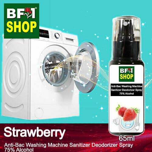 (ABWMSD) Strawberry Anti-Bac Washing Machine Sanitizer Deodorizer Spray - 75% Alcohol - 65ml