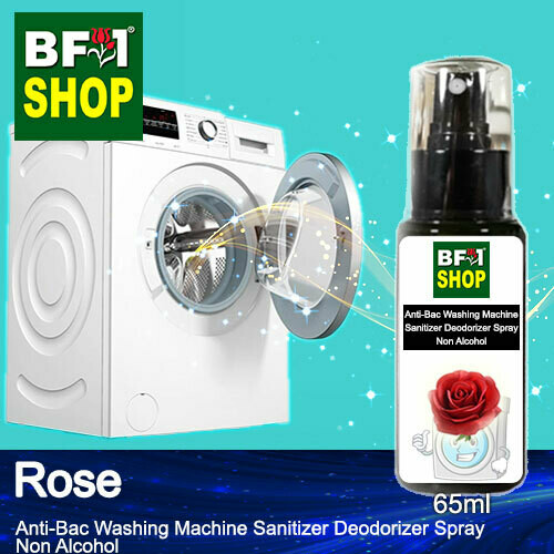 (ABWMSD) Rose Anti-Bac Washing Machine Sanitizer Deodorizer Spray - Non Alcohol - 65ml