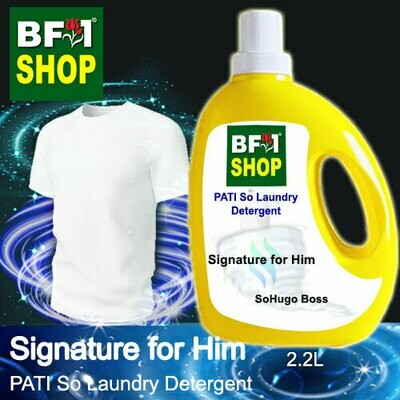 (PSLDD) PATI SoHugo Boss - Signature for Him - Laundry Detergent + Deodorizer - 2.2L