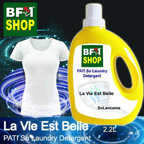 (PSLDD) PATI SoLancome - La Vie Est Belle - Laundry Detergent + Deodorizer - 2.2L