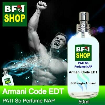 (PSNAP) PATI SoGiorgio Armani - Armani Code EDT - Perfume NAP - 50ml