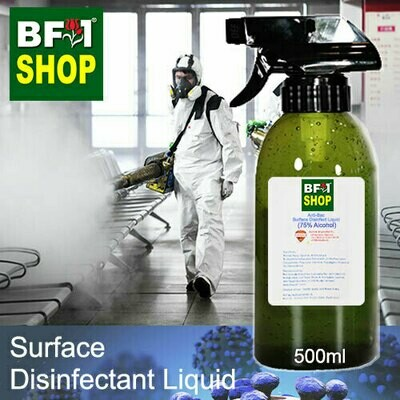 Anti-Bac Surface Disinfectant Liquid ( 75% IPA Alcohol ) - 500ml