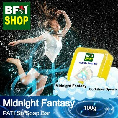 (PSSB) PATI SoBritney Spears - Midnight Fantasy - Soap Bar - 100g