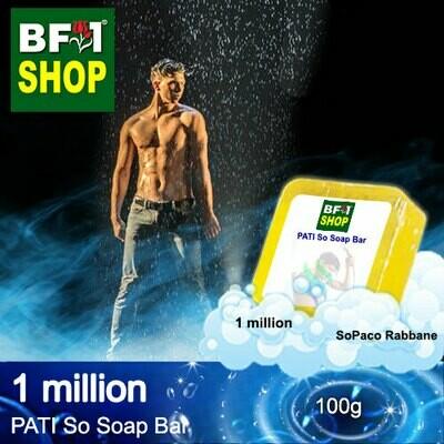 (PSSB) PATI SoPaco Rabbane - 1 million - Soap Bar - 100g