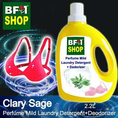(PMLDD) Perfume Mild Laundry Detergent + Deodorizer - WBP Clary Sage - 2.2L