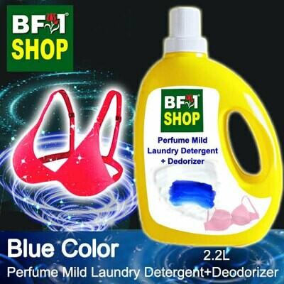 (PMLDD) Perfume Mild Laundry Detergent + Deodorizer - WBP Blue Color - 2.2L