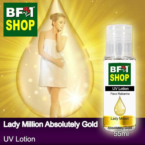 (UVL) PwDPaco Rabanne - Lady Million Absolutely Gold UV Lotion - 55ml Woman SPF-45