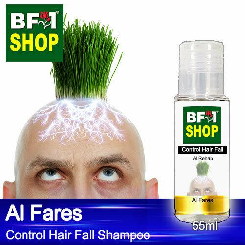 (CHFS) AmBAl Rehab - Al Fares Control Hair Fall Shampoo - 55ml - Man