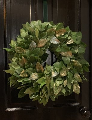 Fresh Lemon Leaf Wreath