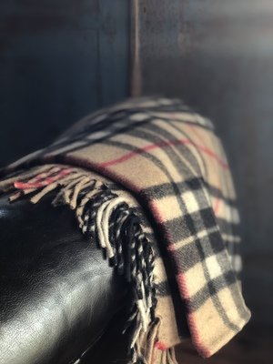 Camel Thomson Tartan Recycled Wool Blanket
