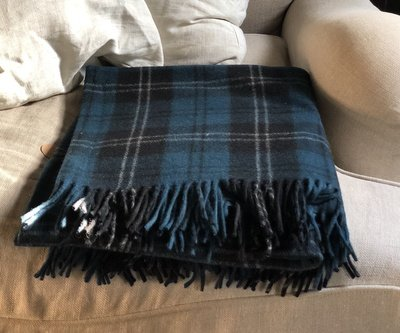 Ramsay Blue Ancient Tartan Recycled Wool Blanket