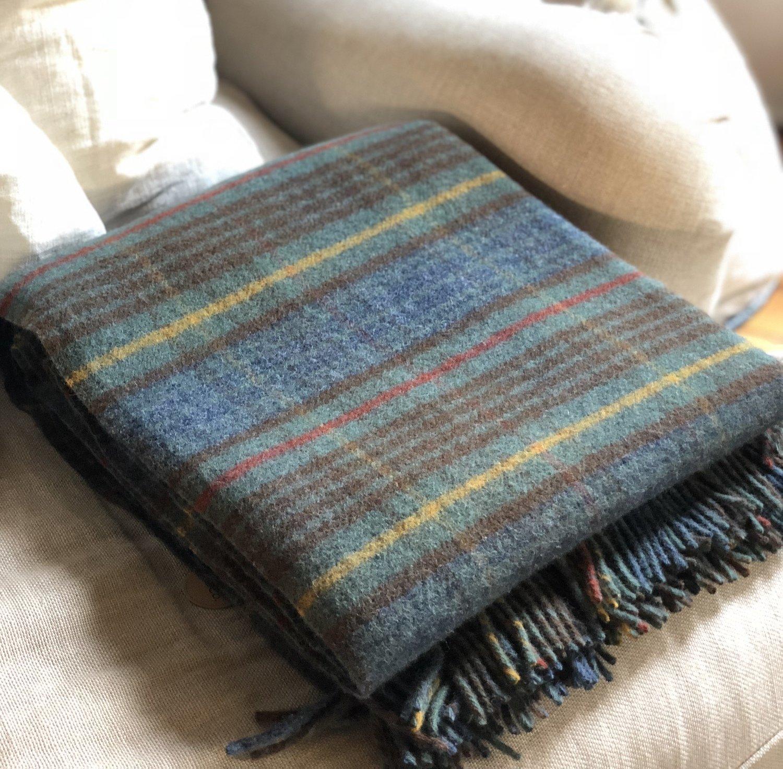 Stewart Hunting Antique Tartan New Wool Blanket