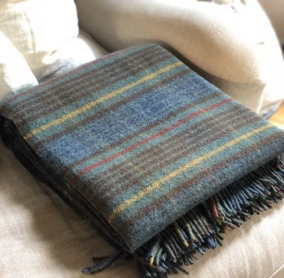 Stewart Hunting Antique Tartan New Wool Blanket