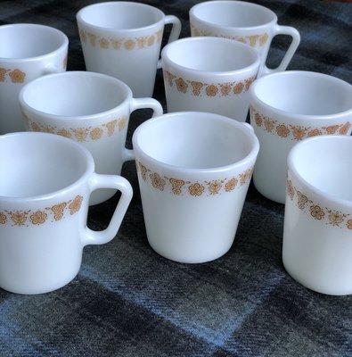 Vintage Coffee & Conversation Mugs