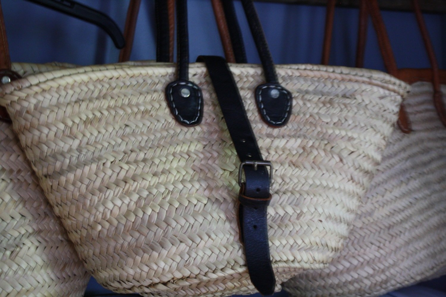 Basket Purse with Buckle Closure