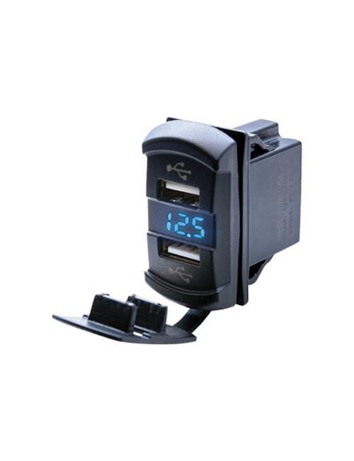 Dual USB Socket with Voltmeter