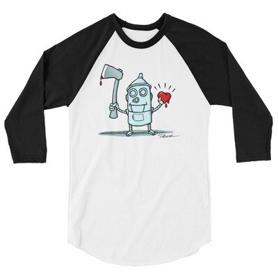 Tin Man 3/4 sleeve raglan shirt