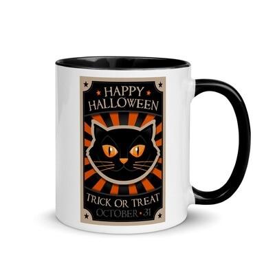 Vintage Halloween Cat Mug