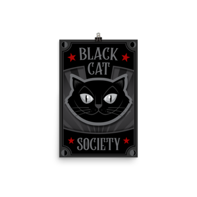 Black Cat Society Poster
